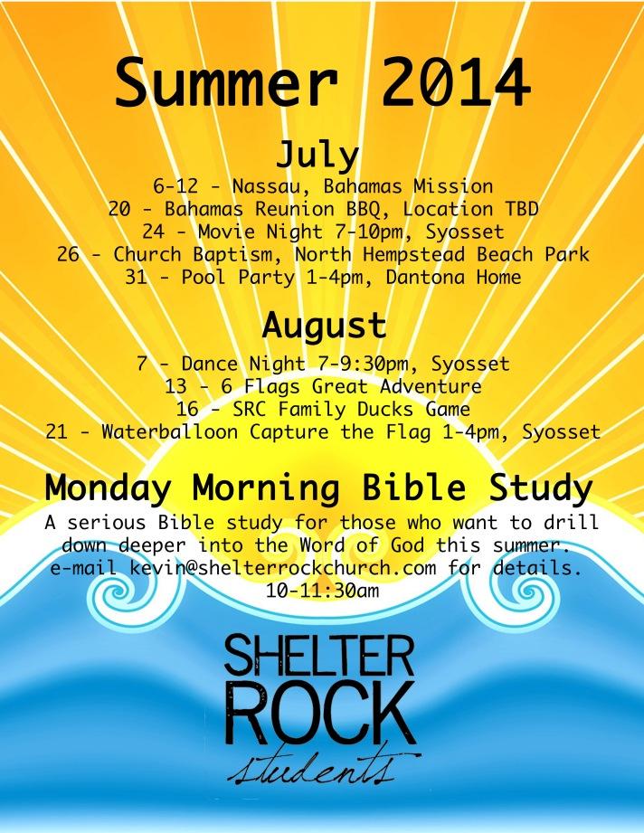 SRC Summer Calendar 2014