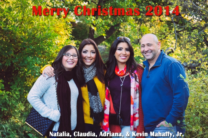 Mahaffy Family Christmas Pic 2014